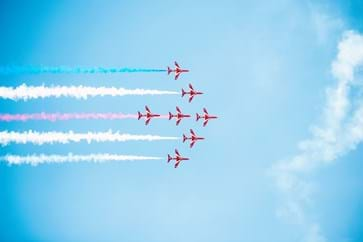 Red Arrows at the British Grand Prix