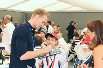 Oli Webb with Silverstone GP Hospitality Guests