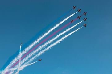 Red Arrows at Silverstone Grand Prix