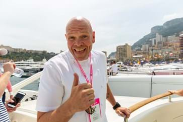 Tom Kerridge on board the Red Eye Yacht