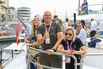 Tom Kerridge enjoys the Monaco Grand Prix