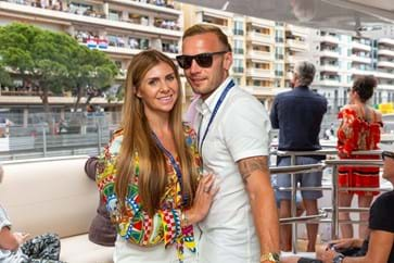 Andreas Weimann and wife Jennifer at the Monaco Grand Prix