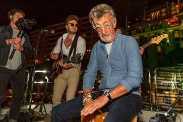 Eddie Jordan at the Red Eye Events Monaco Yacht Party