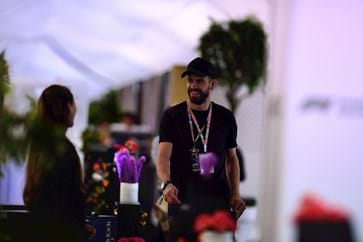 Gerard Pique Enjoying Spanish Grand Prix Hospitality