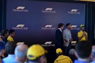 Daniel Ricciardo with F1 Hospitality Guests in Canada