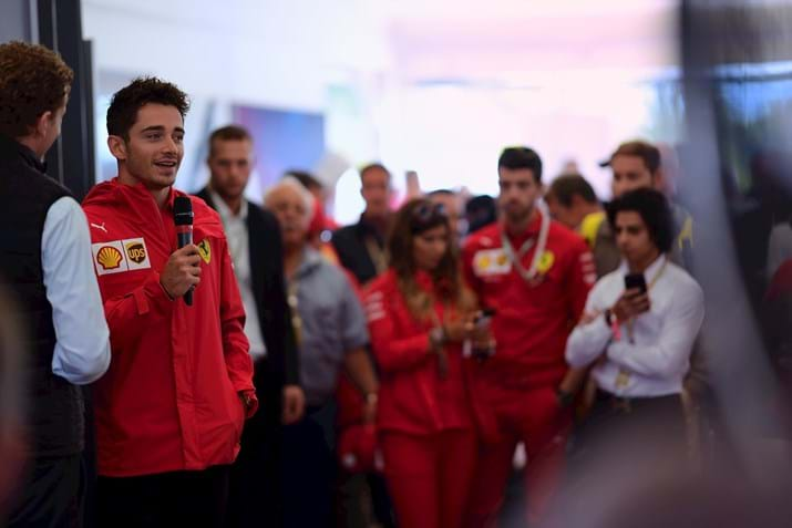 Charles Leclerc in Paddock Club Monza