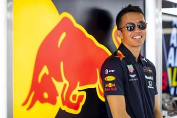 Alex Albon Red Bull Paddock Club