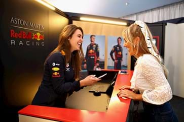 Red Bull Paddock Club Welcome Desk