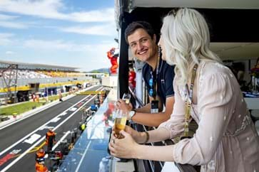 French Grand Prix Paddock Club Balcony View
